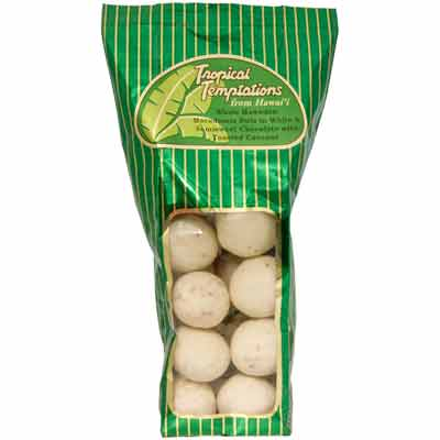 8oz Hawaiian Macadamia Nuts in Chocolate & Coconut